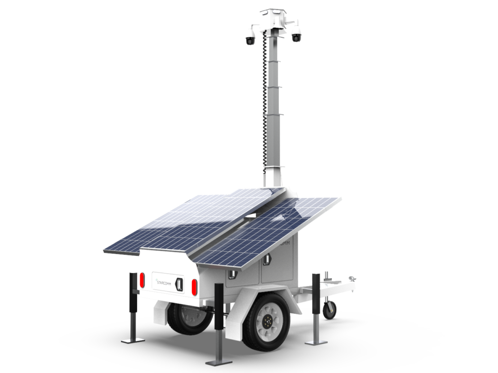 STARCOMM solar security trailers